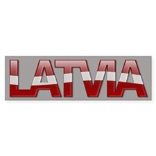 """Latvia Bubble Letters"" Bumper Bumper Sticker"