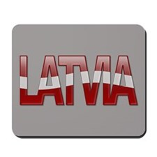 """Latvia Bubble Letters"" Mousepad"