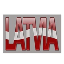 """Latvia Bubble Letters"" Postcards (Package of 8)"