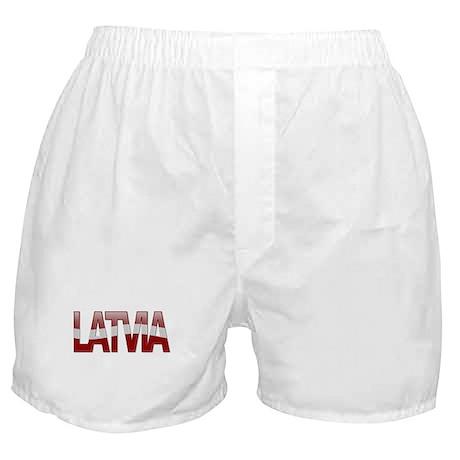 """Latvia Bubble Letters"" Boxer Shorts"