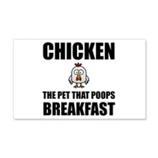 Chickens Poop Breakfast Wall Decal