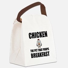 Chickens Poop Breakfast Canvas Lunch Bag