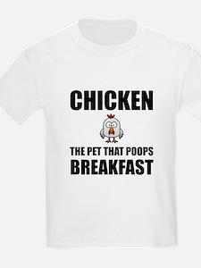 Chickens Poop Breakfast T-Shirt