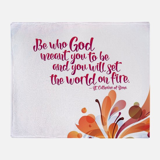 Set the World on Fire Throw Blanket