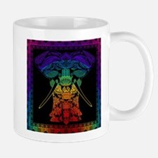 Multi Coloured Decorated Elephant Design. Mugs