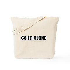 Go it alone Tote Bag