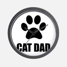 Cat Dad Paw Wall Clock