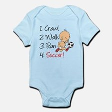 Crawl Walk Run Soccer Body Suit