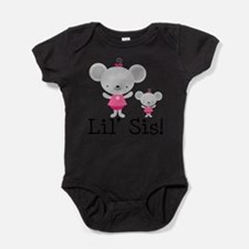 Little Sister Pink Mouse Body Suit