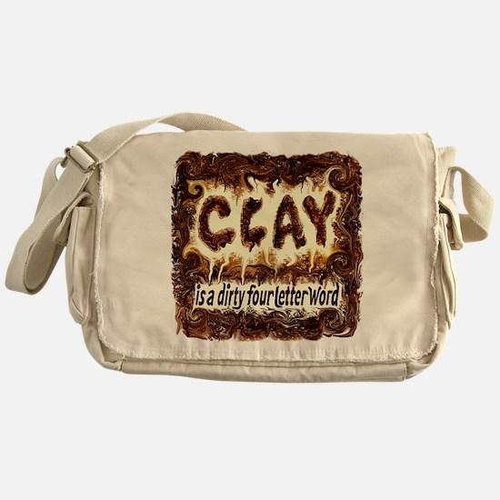 DIRTY WORD POTTERY Messenger Bag