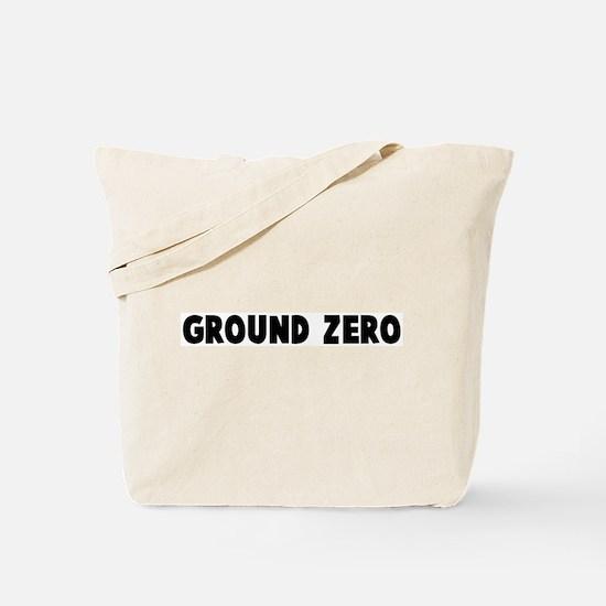 Ground zero Tote Bag