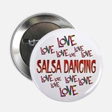 "Love Love Salsa Dancing 2.25"" Button (10 pack)"