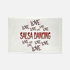 Love Love Salsa Dancing Rectangle Magnet