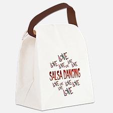 Love Love Salsa Dancing Canvas Lunch Bag