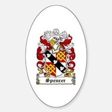 Spencer Coat of Arms Oval Decal
