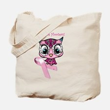 Breast Cancer Owl Tote Bag