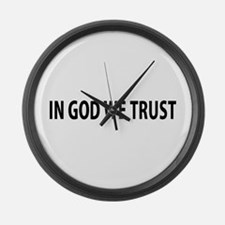 In God We Trust Large Wall Clock