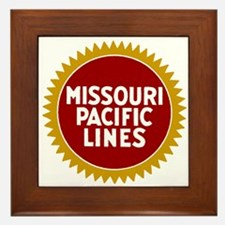 Missouri Pacific Railroad Framed Tile