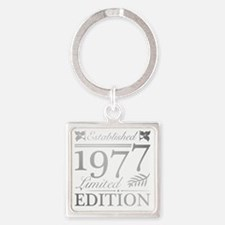 Funny 40 Square Keychain