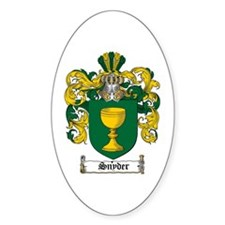 Snyder Coat of Arms Oval Bumper Stickers