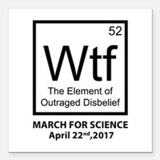 """Wtf Outraged Disbelief Square Car Magnet 3"""" x 3"""""""