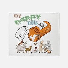 Goats   My Happy Pills GetYerGoat Or Throw Blanket