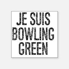 "Cute Bowling green Square Sticker 3"" x 3"""
