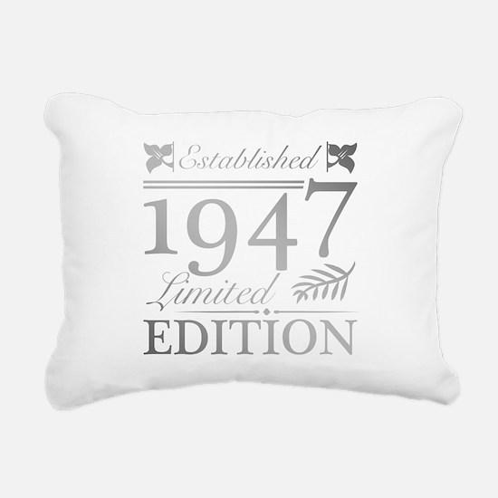 1947 Limited Edition Rectangular Canvas Pillow