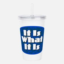 It Is What It Is Acrylic Double-wall Tumbler