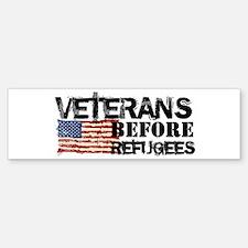 Veterans Before Refugees Sticker (Bumper)