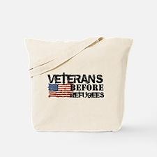 Veterans Before Refugees Tote Bag