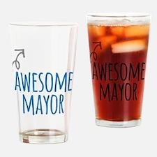 Awesome mayor Drinking Glass