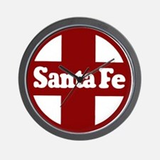 Santa Fe Railroad Red Wall Clock
