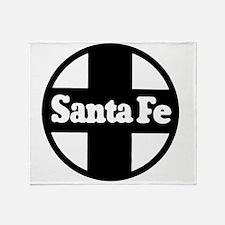 Santa Fe Railroad black Throw Blanket