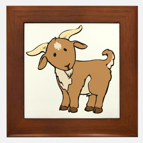 Cute Goat t Framed Tile