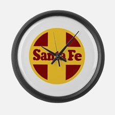 Santa Fe Railway Large Wall Clock
