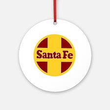 Santa Fe Railway Round Ornament