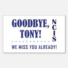 GOODBYE, TONY! Sticker (Rectangle)