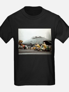 F14B Tomcat From the USS Kitt Ash Grey T-Shirt