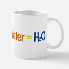 Water = H2O Mug