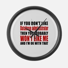 If You Do Not Like Database admin Large Wall Clock