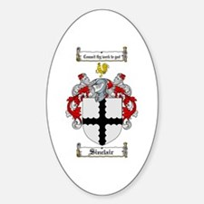 Sinclair Coat of Arms Oval Decal