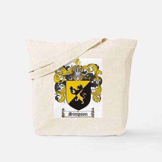 Simpson Coat of Arms Tote Bag