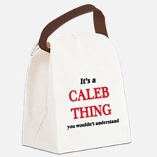 It's a Caleb thing, you would Canvas Lunch Bag
