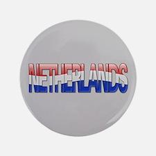"""""""Netherlands Bubble Letters"""" 3.5"""" Button"""