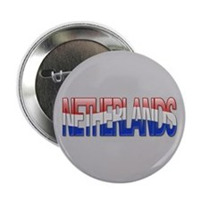 """Netherlands Bubble Letters"" 2.25"" Button"