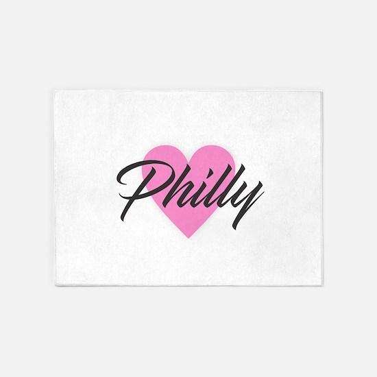 I Heart Philly 5'x7'Area Rug