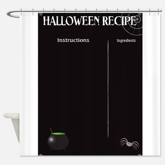 Halloween Recipe Page Shower Curtain
