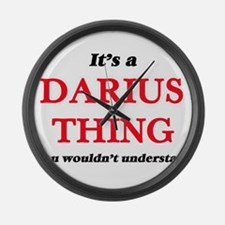 It's a Darius thing, you woul Large Wall Clock