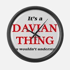 It's a Davian thing, you woul Large Wall Clock